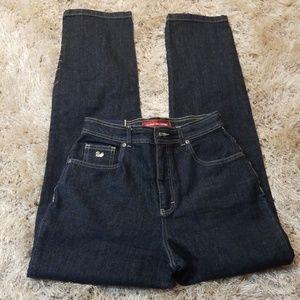 Gloria Vanderbilt High Waist Dark Wash Mom Jeans